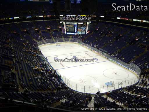 Seat view from section 331 the Enterprise Center, home of the St. Louis Blues