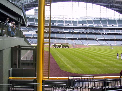 Seat view from section 105 at Miller Park, home of the Milwaukee Brewers