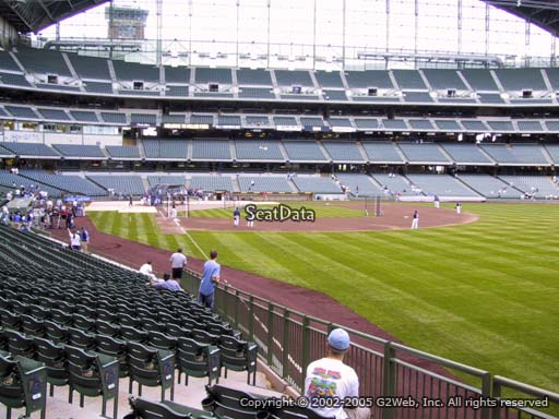 Seat view from section 106 at Miller Park, home of the Milwaukee Brewers