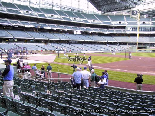Seat view from section 111 at Miller Park, home of the Milwaukee Brewers