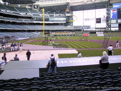 Seat view from section 114 at Miller Park, home of the Milwaukee Brewers