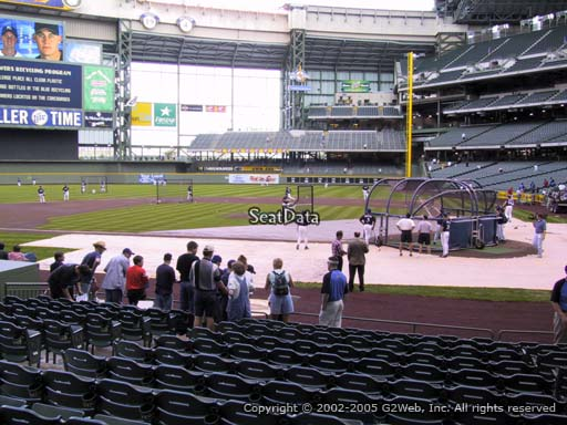 Seat view from section 120 at Miller Park, home of the Milwaukee Brewers