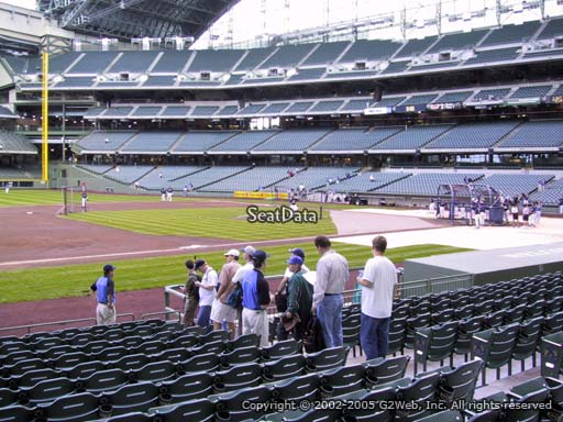 Seat view from section 124 at Miller Park, home of the Milwaukee Brewers