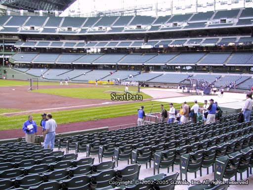 Seat view from section 125 at Miller Park, home of the Milwaukee Brewers