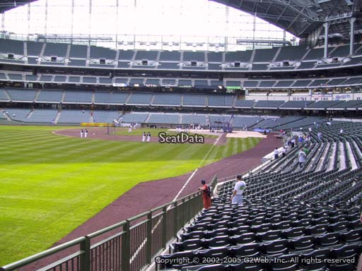Seat view from section 131 at Miller Park, home of the Milwaukee Brewers