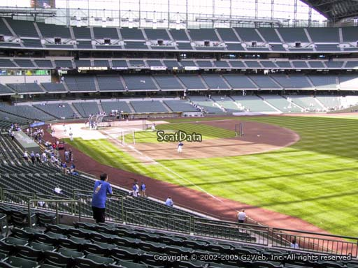 Seat view from section 207 at Miller Park, home of the Milwaukee Brewers