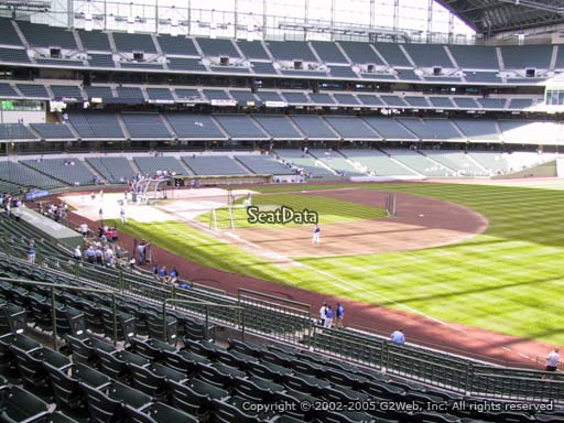 Seat view from section 208 at Miller Park, home of the Milwaukee Brewers