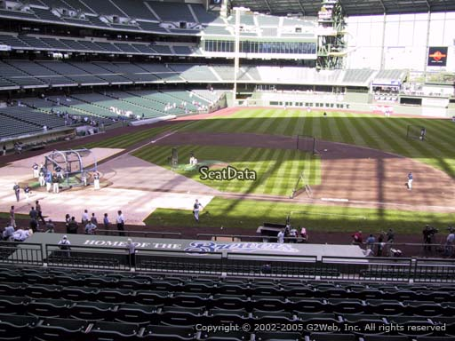 Seat view from section 213 at Miller Park, home of the Milwaukee Brewers