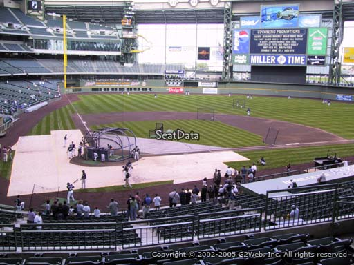 Seat view from section 216 at Miller Park, home of the Milwaukee Brewers
