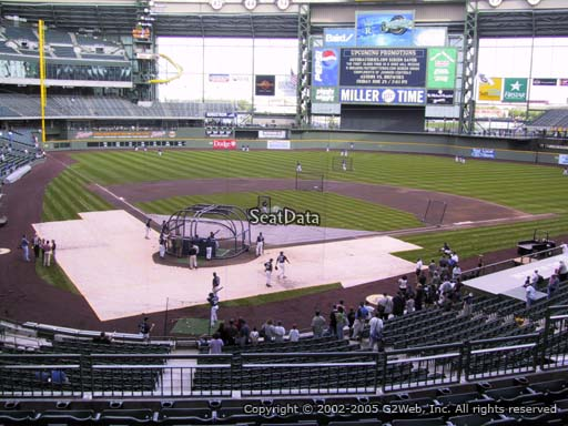 Seat view from section 217 at Miller Park, home of the Milwaukee Brewers