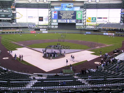 Seat view from section 218 at Miller Park, home of the Milwaukee Brewers