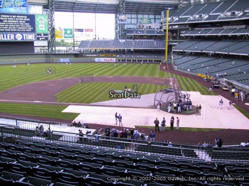 Seat view from section 222 at Miller Park, home of the Milwaukee Brewers