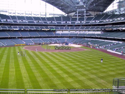 Seat view from section 238 at Miller Park, home of the Milwaukee Brewers