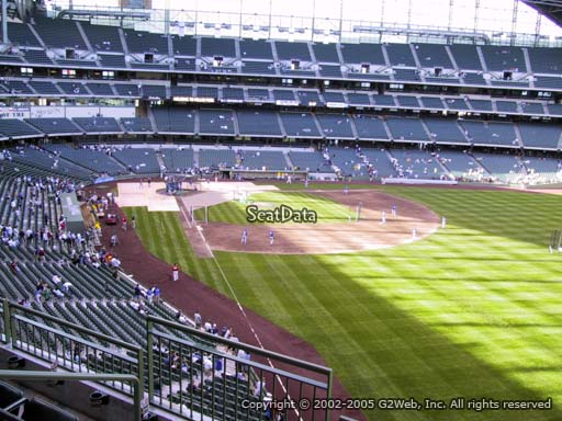 Seat view from section 306 at Miller Park, home of the Milwaukee Brewers