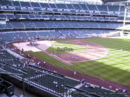 Seat view from section 311 at Miller Park, home of the Milwaukee Brewers