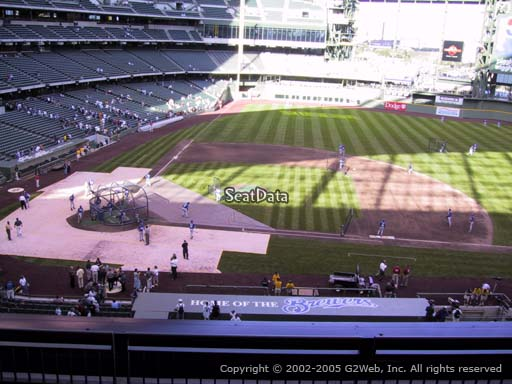 Seat view from section 321 at Miller Park, home of the Milwaukee Brewers