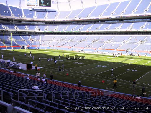 Seat view from section 101 at Sports Authority Field at Mile High Stadium, home of the Denver Broncos