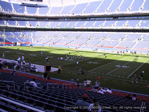 Seat view from section 102 at Sports Authority Field at Mile High Stadium, home of the Denver Broncos