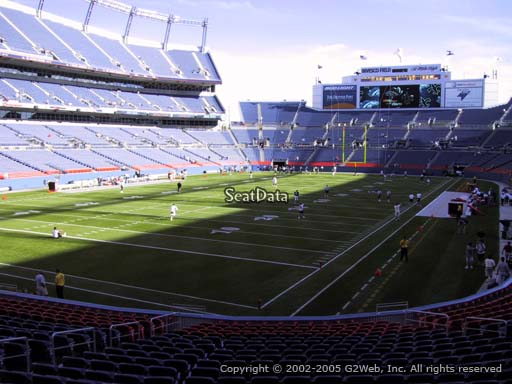Seat view from section 111 at Sports Authority Field at Mile High Stadium, home of the Denver Broncos