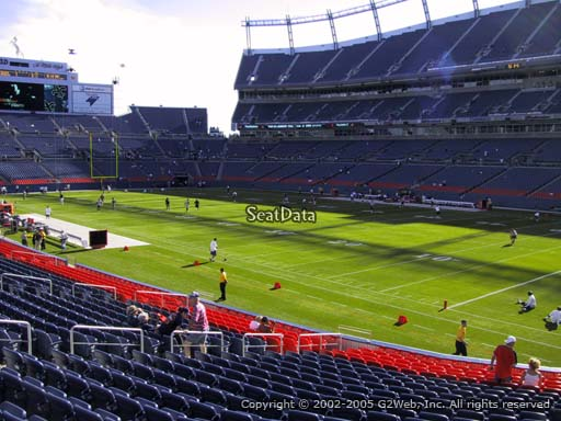 Seat view from section 118 at Sports Authority Field at Mile High Stadium, home of the Denver Broncos