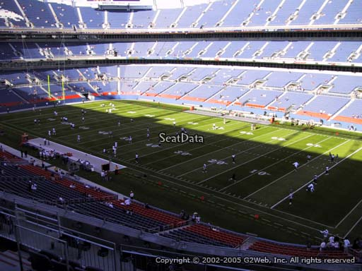 Seat view from section 302 at Sports Authority Field at Mile High Stadium, home of the Denver Broncos