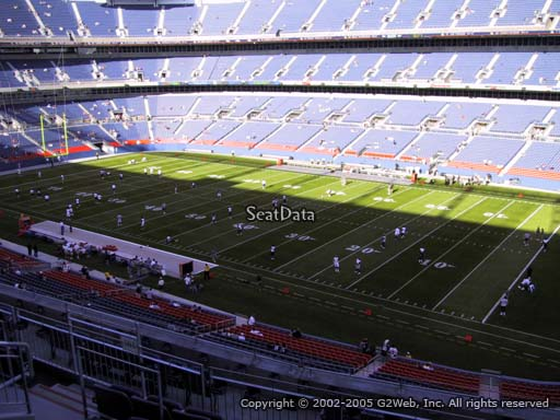 Seat view from section 303 at Sports Authority Field at Mile High Stadium, home of the Denver Broncos