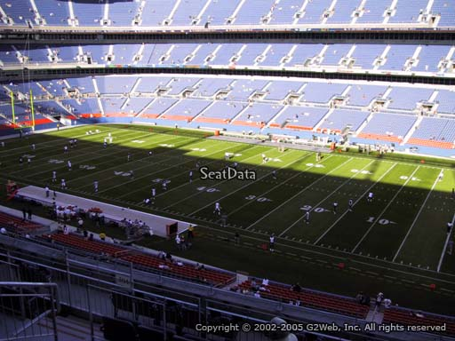 Seat view from section 304 at Sports Authority Field at Mile High Stadium, home of the Denver Broncos