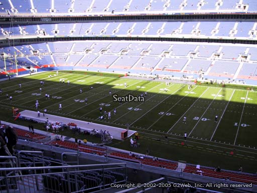 Seat view from section 305 at Sports Authority Field at Mile High Stadium, home of the Denver Broncos