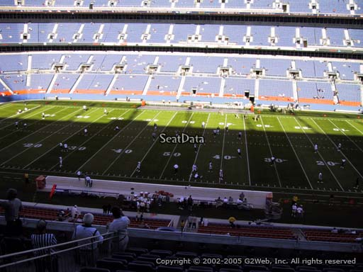Seat view from section 308 at Sports Authority Field at Mile High Stadium, home of the Denver Broncos
