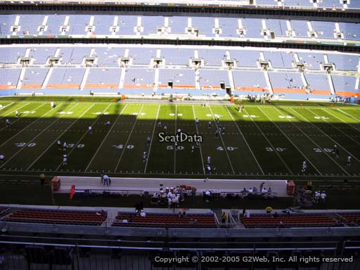 Seat view from section 309 at Sports Authority Field at Mile High Stadium, home of the Denver Broncos