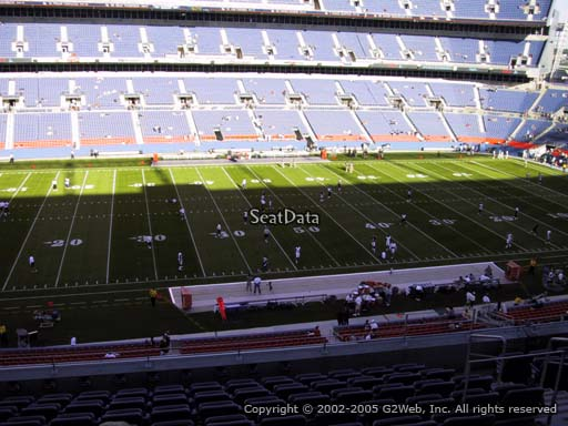 Seat view from section 311 at Sports Authority Field at Mile High Stadium, home of the Denver Broncos