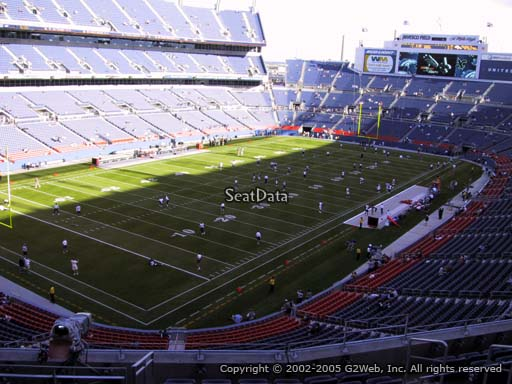 Seat view from section 318 at Sports Authority Field at Mile High Stadium, home of the Denver Broncos