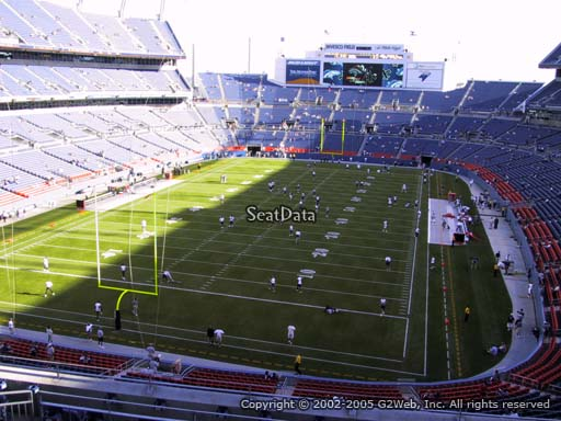 Seat view from section 321 at Sports Authority Field at Mile High Stadium, home of the Denver Broncos