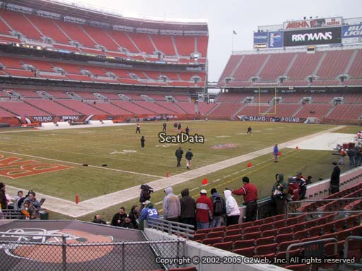 Seat view from section 101 at FirstEnergy Stadium, home of the Cleveland Browns