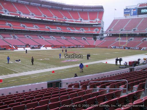 Seat view from section 102 at FirstEnergy Stadium, home of the Cleveland Browns