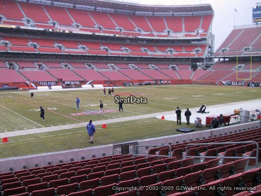 Seat view from section 104 at FirstEnergy Stadium, home of the Cleveland Browns