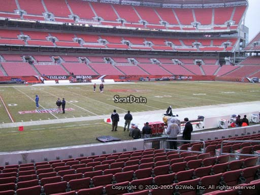 Seat view from section 106 at FirstEnergy Stadium, home of the Cleveland Browns
