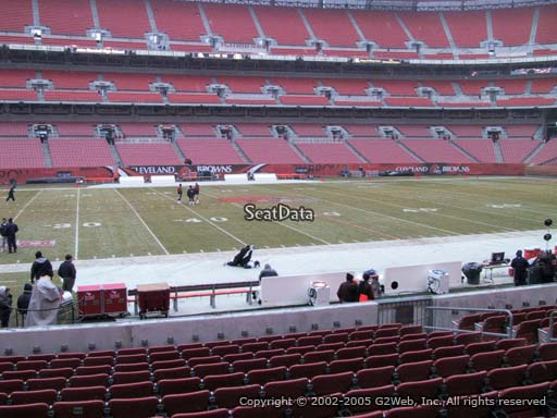 Seat view from section 107 at FirstEnergy Stadium, home of the Cleveland Browns