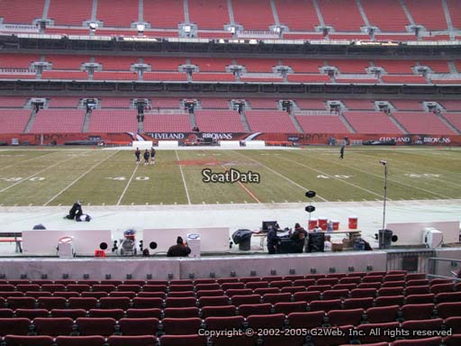 Seat view from section 108 at FirstEnergy Stadium, home of the Cleveland Browns