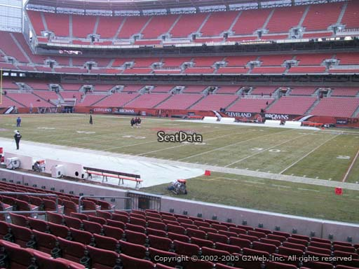 Seat view from section 111 at FirstEnergy Stadium, home of the Cleveland Browns