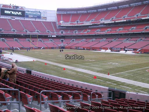 Seat view from section 115 at FirstEnergy Stadium, home of the Cleveland Browns