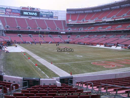 Seat view from section 117 at FirstEnergy Stadium, home of the Cleveland Browns