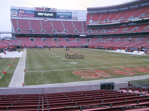 Seat view from section 118 at FirstEnergy Stadium, home of the Cleveland Browns