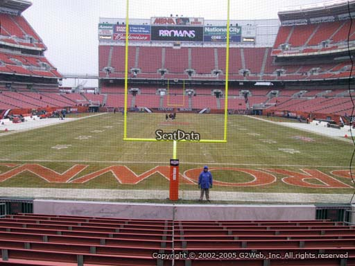 Seat view from section 120 at FirstEnergy Stadium, home of the Cleveland Browns