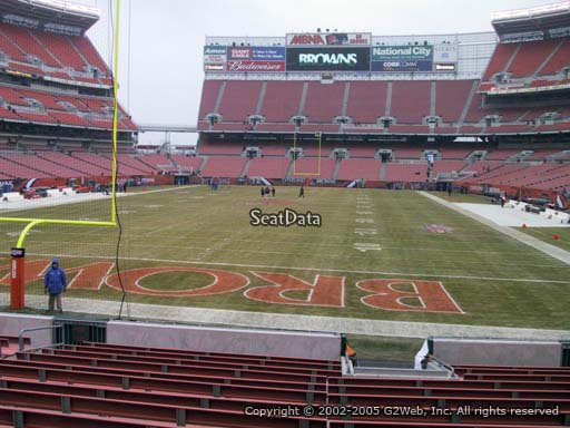 Seat view from section 121 at FirstEnergy Stadium, home of the Cleveland Browns