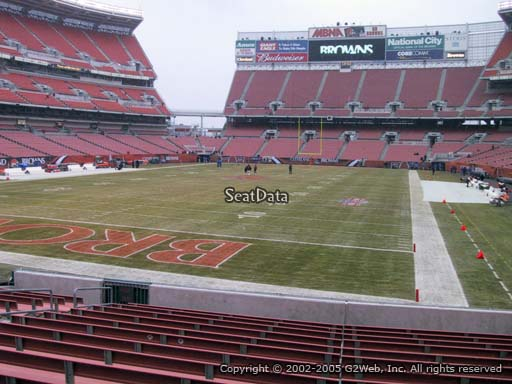 Seat view from section 122 at FirstEnergy Stadium, home of the Cleveland Browns
