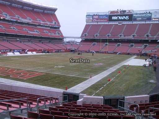 Seat view from section 124 at FirstEnergy Stadium, home of the Cleveland Browns