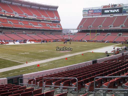 Seat view from section 127 at FirstEnergy Stadium, home of the Cleveland Browns