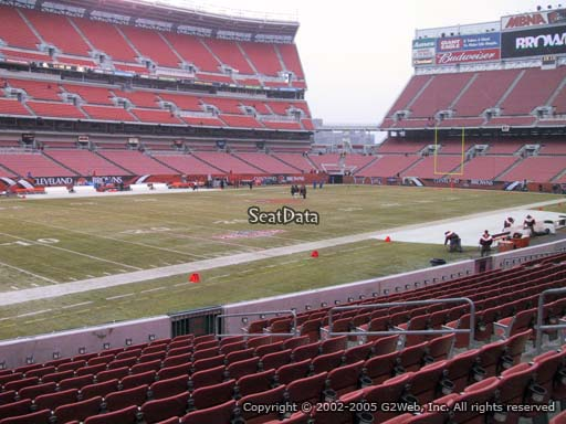 Seat view from section 129 at FirstEnergy Stadium, home of the Cleveland Browns
