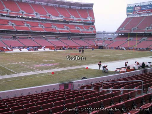 Seat view from section 130 at FirstEnergy Stadium, home of the Cleveland Browns